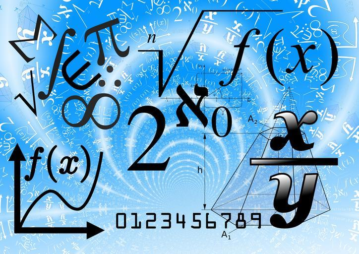 Decorative image of numbers and symbols.