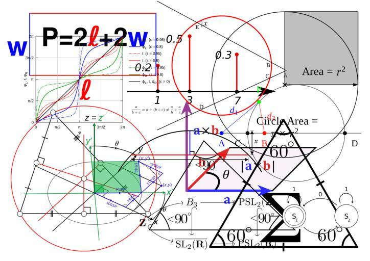 This is a picture with a lot of math symbols.  Purely decorative.