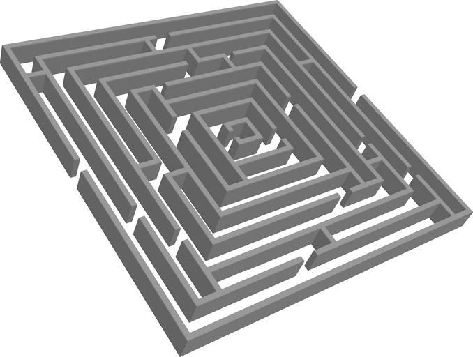 Picture is of a standard maze