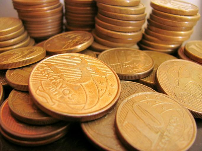 A jumble of gold coins.