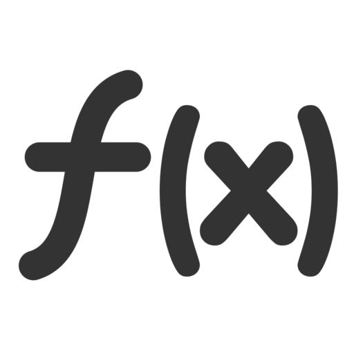 The f(x) symbol for functions.