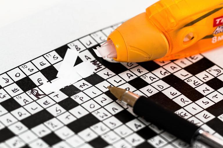 It's a picture of a crossword puzzle.